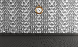 Old style room with vintage clock Stock Image
