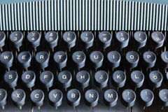 Old style round black Typewriter keyboard Royalty Free Stock Photography
