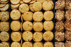 Old style round cookies Stock Images