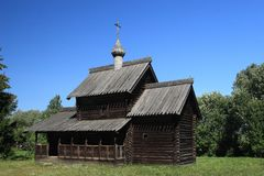 Old Style Russian Wooden Church Stock Photography