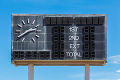 Old style score board Royalty Free Stock Photo