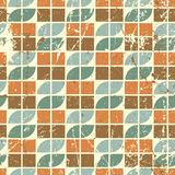 Old style seamless tiles mosaic, vector abstract background. Stock Image
