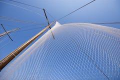 Old style ship`s mast Stock Photos