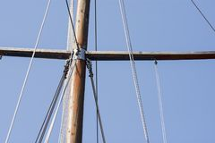 Old style ship`s mast Royalty Free Stock Images