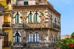 Old style stone Italian house. Royalty Free Stock Photo