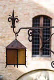 Old-style street lamp in medieval city Royalty Free Stock Images