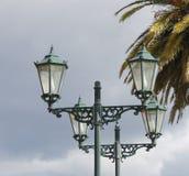 Old style street lamp. Retro street lamp at Rotorua, New Zealand Stock Photos