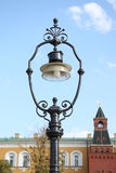 Old style street lantern in Moscow Kremlin Stock Photography