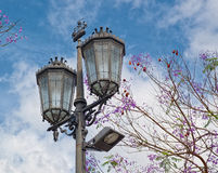 Old style streetlight Royalty Free Stock Photos