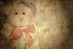 Old Style Teddy Painter Royalty Free Stock Photography