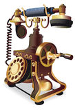 Old-style telephone. Vectorial image of vintage telephone isolated on white Stock Photography