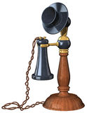 Old Style Telephone. 3D illustration of old style table telephone, on white background Stock Photos