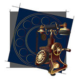 Old-style telephone background Royalty Free Stock Images