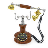 Old style telephone with lifted up receiver Stock Images