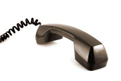 Old style telephone receiver isolated Royalty Free Stock Images