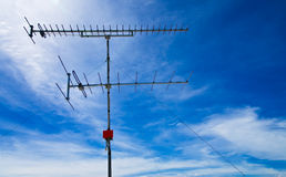 Old style television antenna Stock Photography