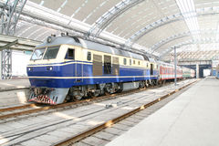 Old style train. At station in China Royalty Free Stock Photography