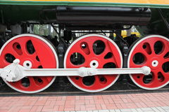 Old style train in railroad Royalty Free Stock Photography