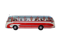 Old Style Travel Bus Stock Photo
