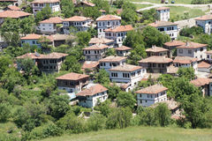 Old style Turkish konak country houses on a tree covered hillsid Royalty Free Stock Photography
