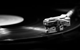 Old style turntable with needle Royalty Free Stock Images