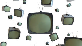 Old Style TV Sets Stock Images