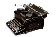 Old Style Typewriter Isolated on White Stock Photo