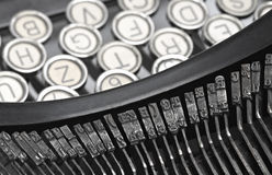 Old style typewriter keys. Royalty Free Stock Images