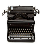 Old Style Typewriter  on White Stock Images