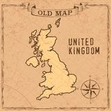 Old style UK map royalty free illustration