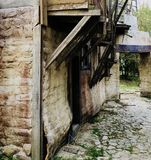 Old style  village house walk around perspective concept. Old and ancient Royalty Free Stock Photography