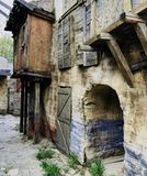 Old style  village house walk around perspective concept. Old and ancient Royalty Free Stock Photos