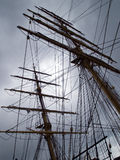 Old Style Vintage Three Masts Clipper Ship Royalty Free Stock Photography