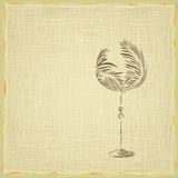 Old style vintage wine card Royalty Free Stock Image