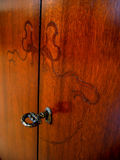 Old style wardrobe. Macro Stock Photography