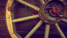 Old style wheels Royalty Free Stock Images