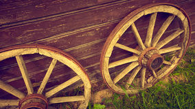 Old style wheels Royalty Free Stock Photo