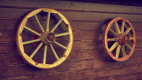 Old style wheels Royalty Free Stock Photography