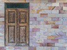 Old style window on modern style wall Stock Photos