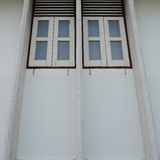 Old style windows in old house Royalty Free Stock Photos