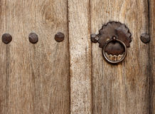 Old Style Wood Door with latch Royalty Free Stock Image