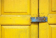 Old style wood door Royalty Free Stock Image