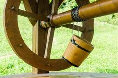 Old style wooden bucket Stock Photos