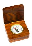 Old style wooden compass Stock Photography