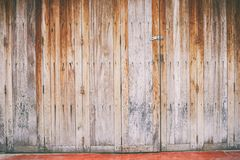 Old style wooden door. For the background Stock Photo