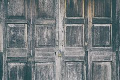 Old style wooden door. For the background Royalty Free Stock Image
