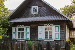 Old-style wooden house Stock Images