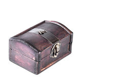 An old style wooden jewelry box Royalty Free Stock Photo
