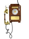 Old style wooden phone Stock Photography