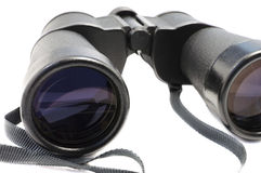 Old style worn binocular Stock Photo
